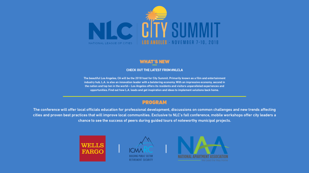 NLC City Summit | Cities Strong Together – National League of Cities